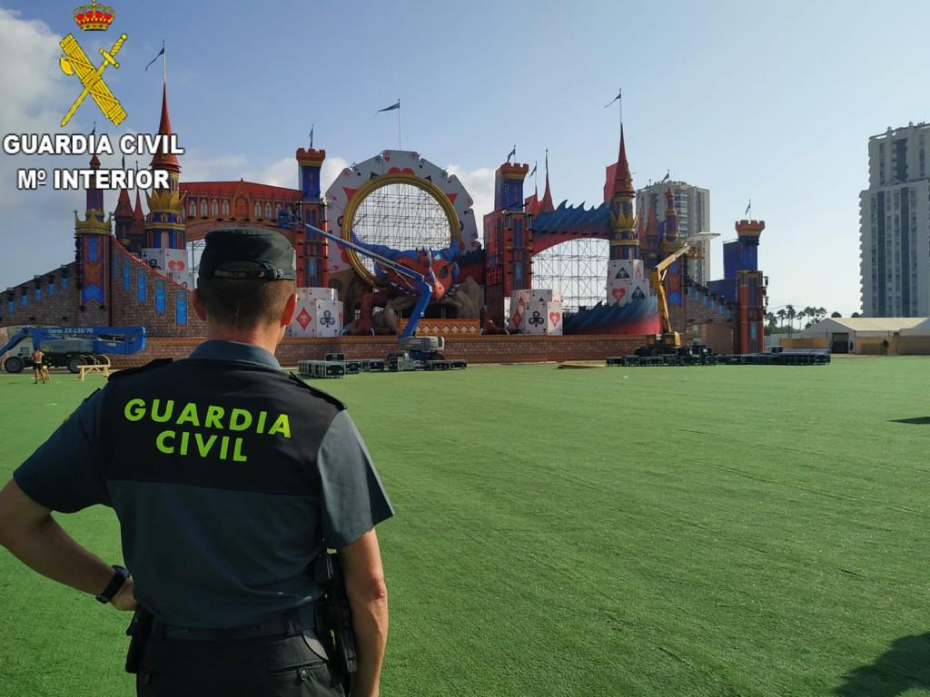Más de 750 Guardias Civiles han participado en el festival Medusa Sunbeach de Cullera para prevenir la delincuencia