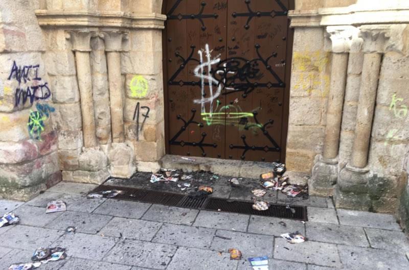 Actos vandálicos esta semana en la iglesia de San Esteban de Zamora