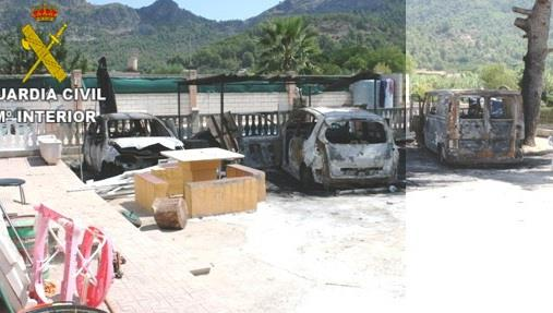 Detienen por tentativa de homicidio a un hombre en Gandía al incendiar tres coches