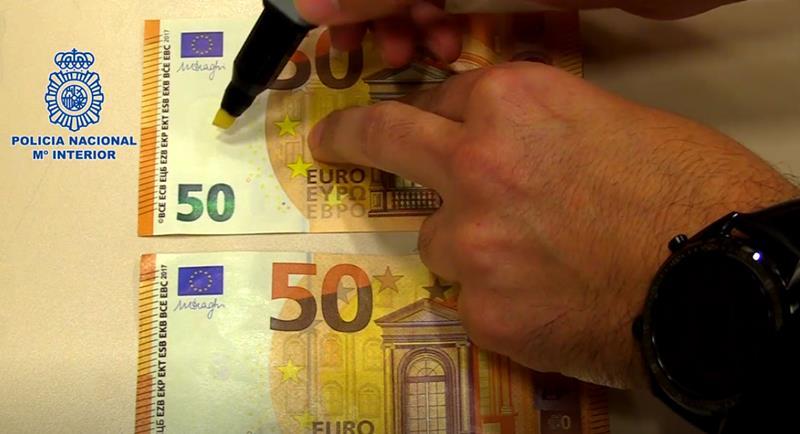El uso del rotulador detector de billetes falsos no siempre es efectivo