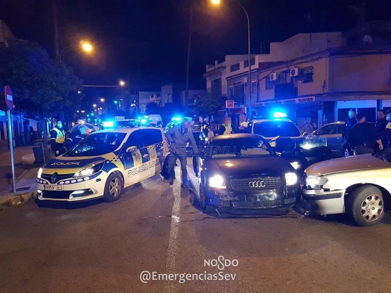 Persecución policial por las calles de Sevilla que acaba con tres detenidos