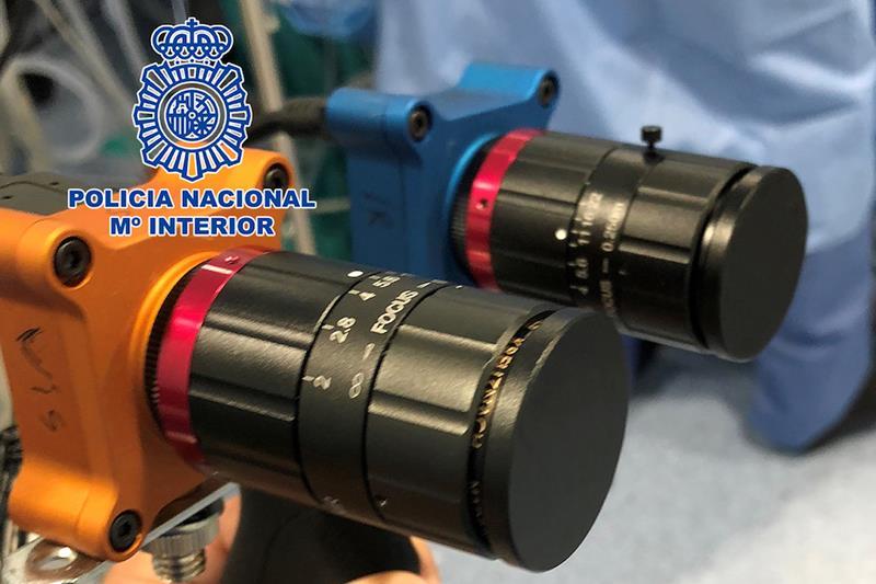 La Policía Nacional participa en el diseño de un dispositivo que permita «ver» el coronavirus en las superficies