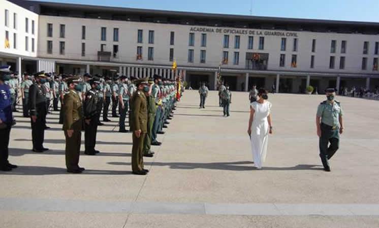 """María Gámez: """"esperamos de vosotros que lideréis la Guardia Civil y la hagáis aún más grande"""""""