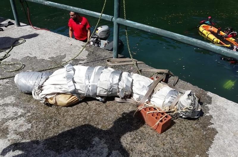 La broma de un falso cadáver en un pantano moviliza a los medios acuáticos de la Ertzaintza