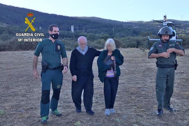 La Guardia Civil localiza a dos personas de avanzada edad que se encontraban desaparecidas