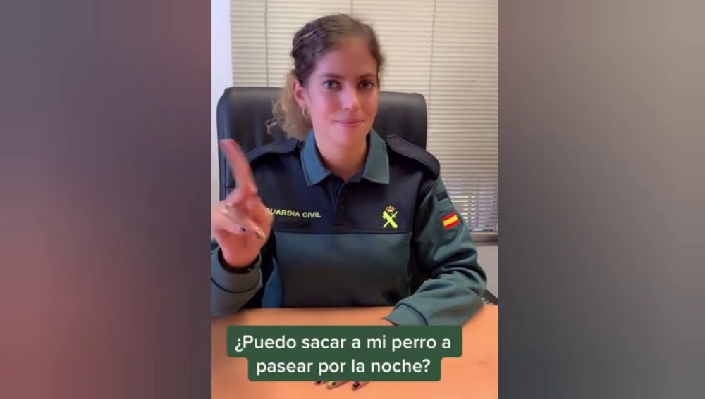 La Guardia Civil sube su primer vídeo a Tik Tok para resolver dudas del Estado de Alarma