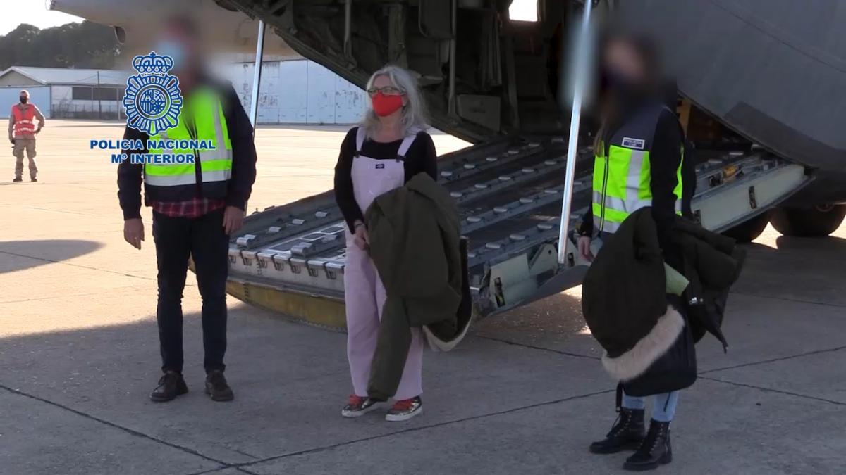 La Policía Nacional traslada a España a María Natividad Jáuregui reclamada por un asesinato terrorista