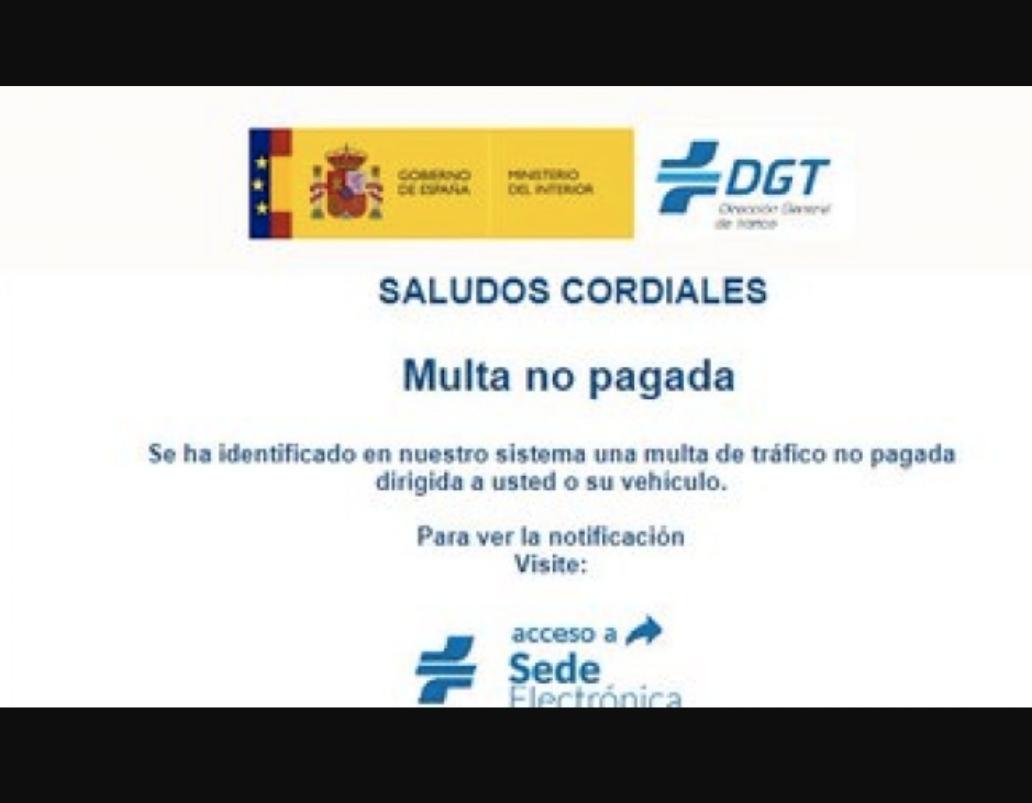 Una campaña de malware suplantando a la DGT intenta engañarte con una multa falsa