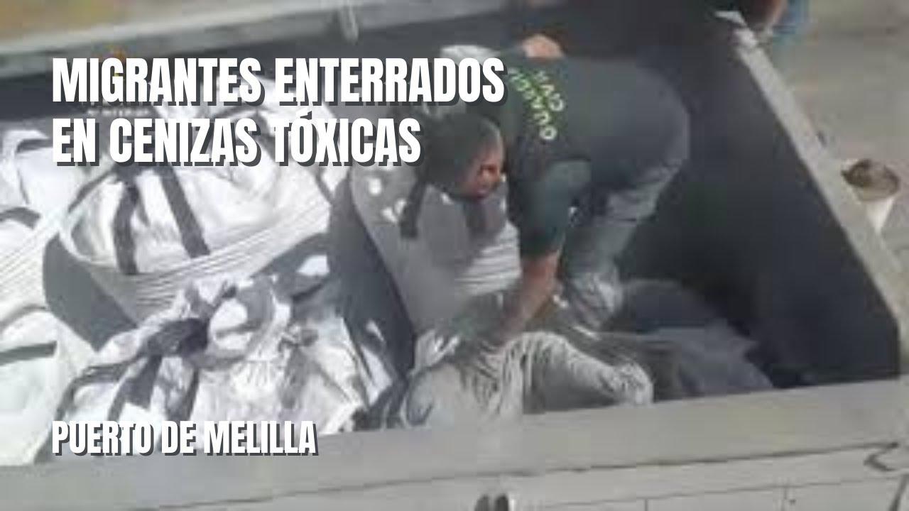 Vídeo: Rescate en el puerto de Melilla de una persona enterrada en cenizas tóxicas de la incineradora