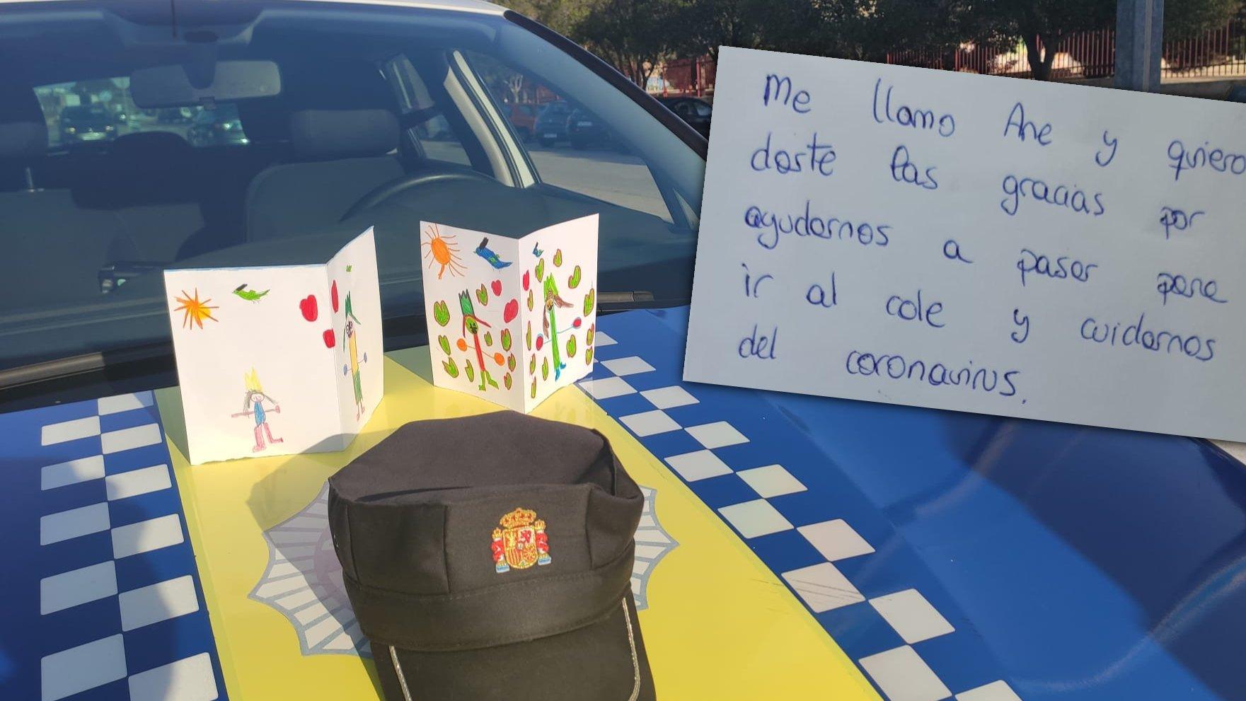 Emotiva carta de una niña dirigida a la Policía Local de Elche