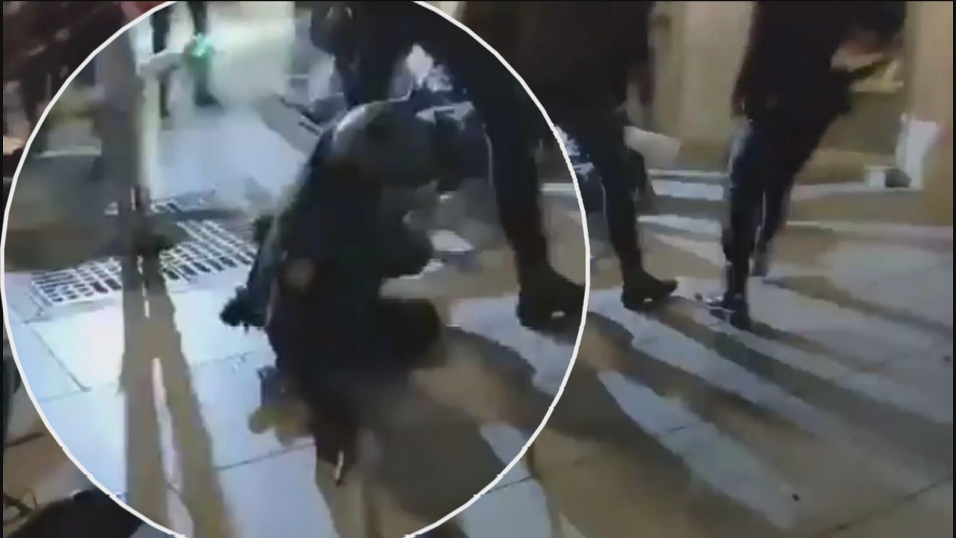 Logran detener a dos personas involucradas en la agresión a una oficial de la UPR en los disturbios de Madrid