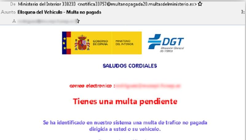 Suplantan a la DGT para instalar un virus en tu dispositivo