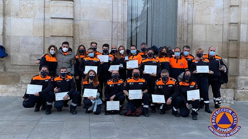 Reconocimiento a la labor de la Protección Civil de San Fernando de Henares durante la pandemia