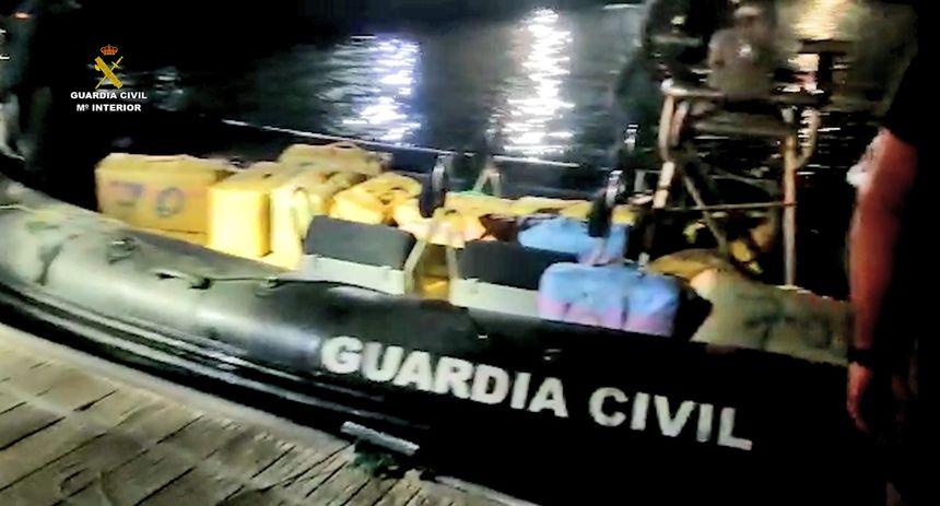 Interceptada en Las Palmas una embarcación con más de 1.050 kilogramos de hachís