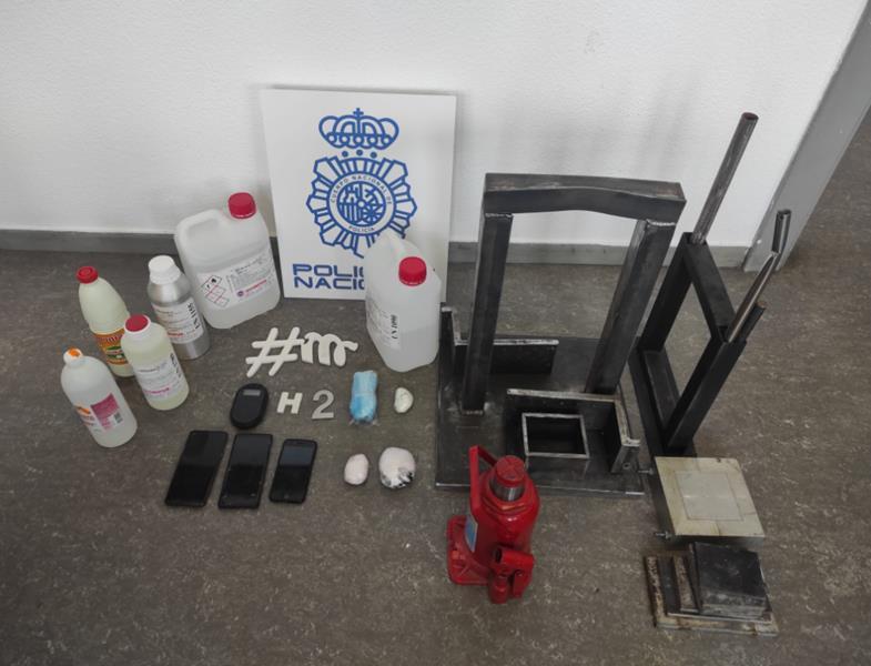 La Policía Nacional desmantela en Madrid un centro de adulteración y corte de cocaína