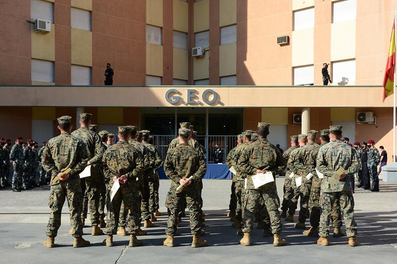 Colaboración del GEO/GOES de la Policía Nacional con los Marines de Estados Unidos