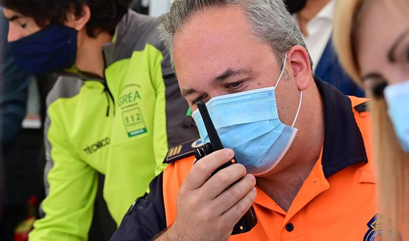 Simulacro en Granada de comunicaciones en caso de incidencias en la red telefónica durante un episodio sísmico