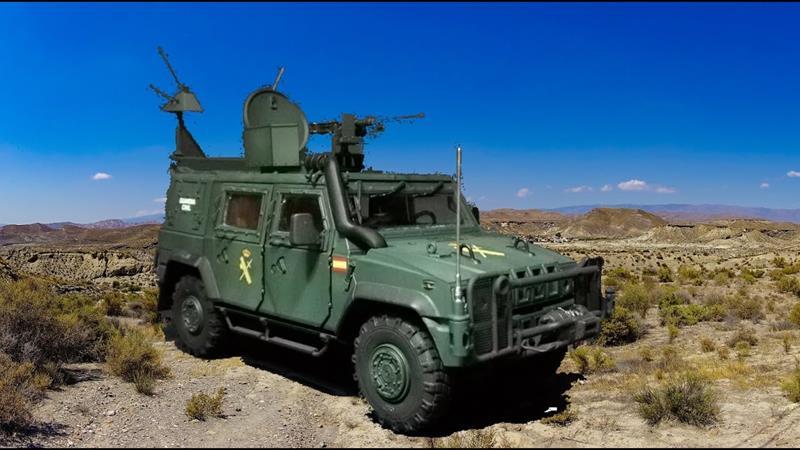 Curso de conducción del vehículo LINCE para el Grupo de Acción Rápida (GAR) de la Guardia Civil