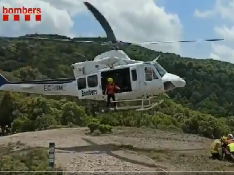 VÍDEO: Rescate de una persona herida en el Coll d'Eres, en Mura