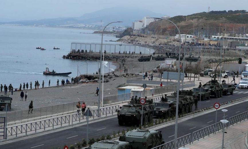 La presión de AUGC logra que el Gobierno se decida a reforzar la seguridad en la frontera de Ceuta con Marruecos