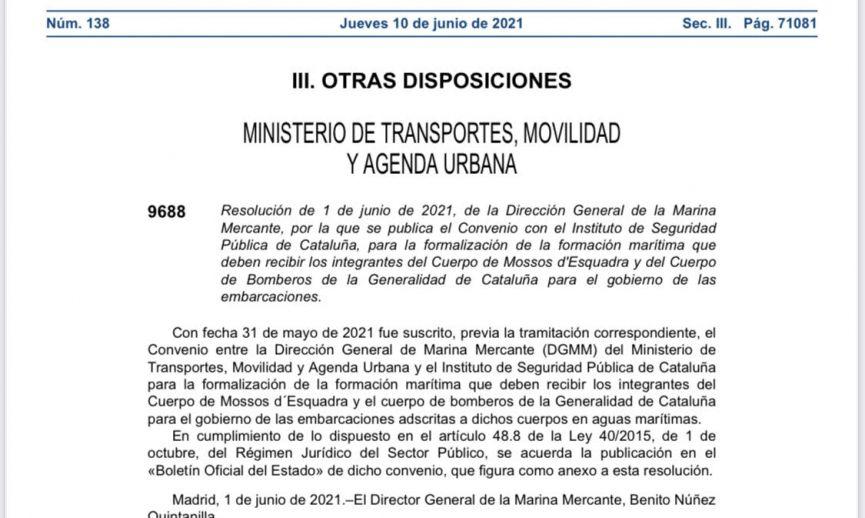 Avanza el plan para crear una nueva unidad marítima catalana que arrebate competencias a la Guardia Civil