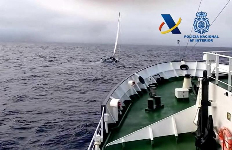 Interceptado un buque cargado con 8.400 kilogramos de hachís en aguas de África Occidental