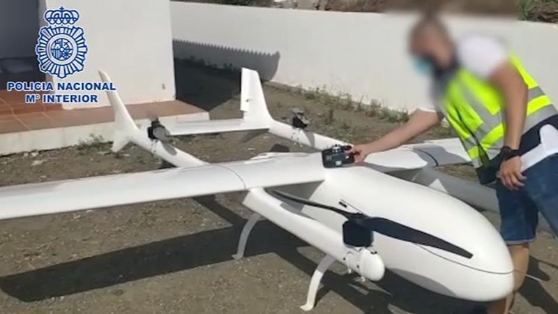 Intervenido en Málaga un dron de 4,35 metros acondicionado para el transporte de droga entre Marruecos y España