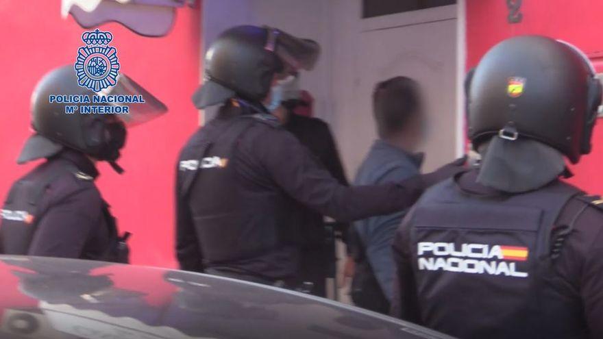 La Policía Nacional libera a dos víctimas y detiene a 22 personas de una organización dedicada a la trata y explotación sexual