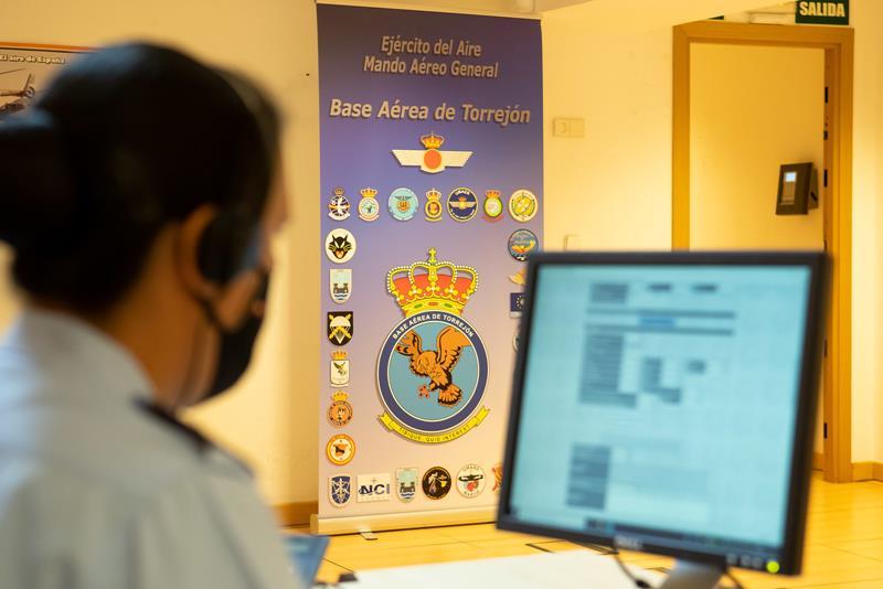 Los rastreadores militares de la base aérea de Torrejón han realizado 75.000 llamadas durante la pandemia