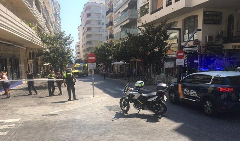 Diez heridos tras un atropello múltiple en una terraza de un bar de Marbella